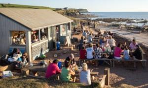The Beach House beach cafe at South Milton Sands near Thurlestone