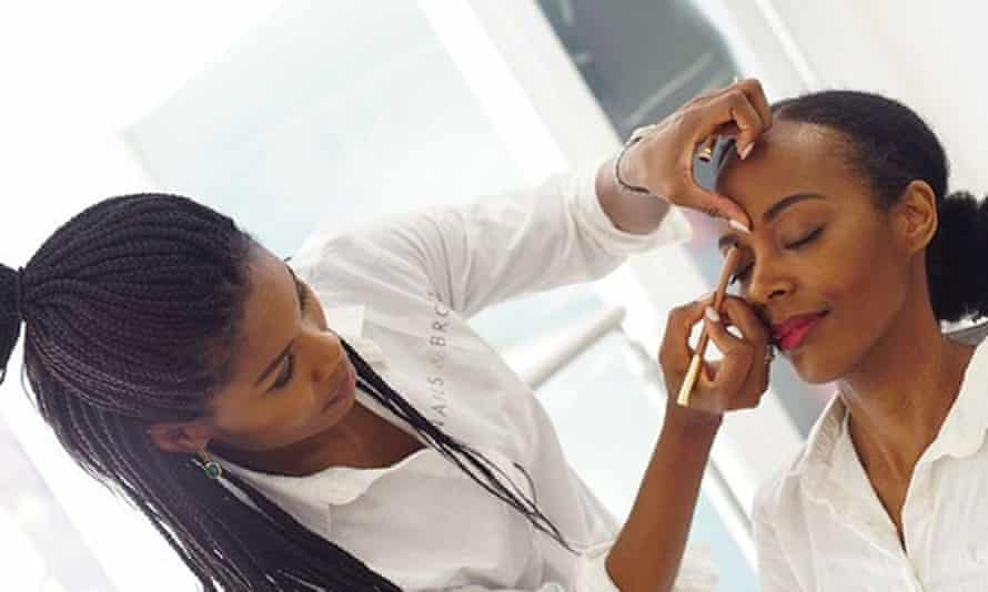 An eyebrow treatment pre-lockdown at the Nails & Brows salon in London