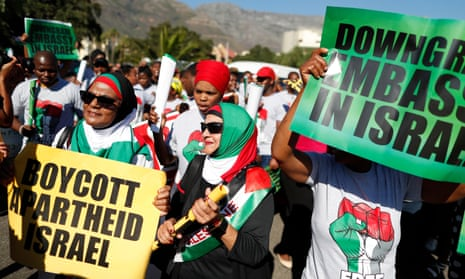 Anti-Israel protests in Cape Town, South Africa in May.