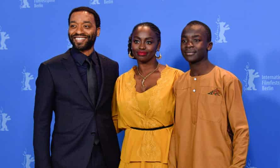 Director and screenwriter Chiwetel Ejiofor, actress Aissa Maiga and actor Maxwell Simba at the 69th Berlinale film festival.