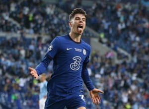 1-0 to Chelsea and Havertz is ecstatic.