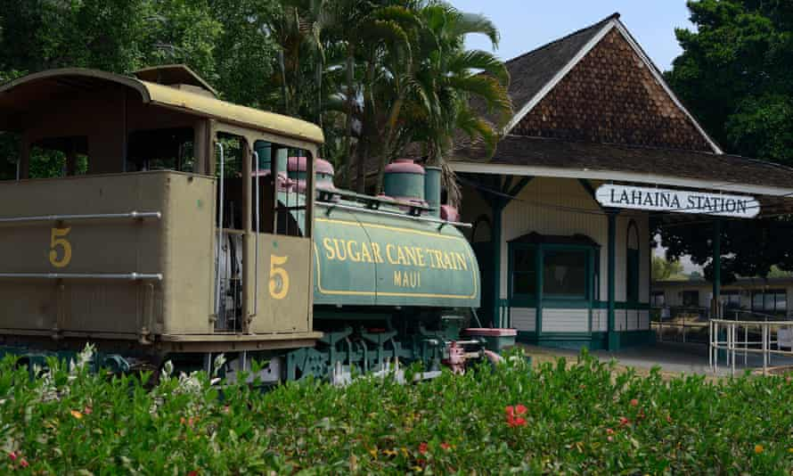 The sugar train that used to run on the island of Maui servicing the sugar industry.