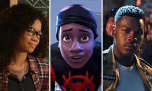 Storm Reid in A Wrinkle in Time, Shameik Moore voicing Miles Morales in Spider-Man: Into the Spider-Verse and John Boyega in Pacific Rim Uprising.