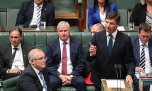 Angus Taylor was repeatedly asked if he declared relevant conflicts when he met department officials about grasslands on property owned by a family business