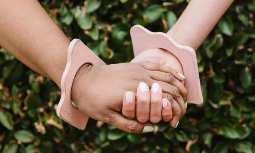 Touching encounter: Aminatou Sow and Ann Friedman.