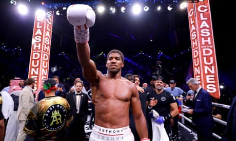 Anthony Joshua beats Andy Ruiz in world heavyweight boxing rematch – as it happened