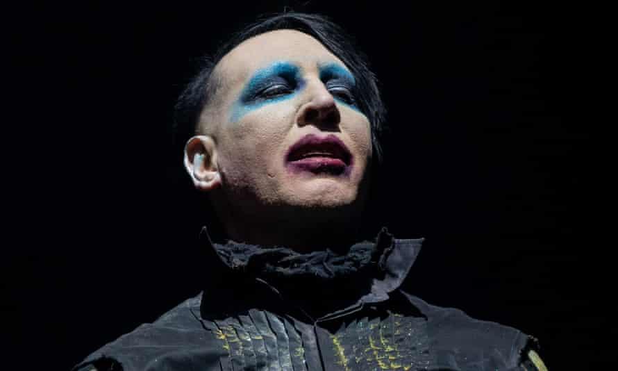 Marilyn Manson performing in 2019.