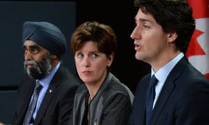 Marie-Claude Bibeau, center, Canada's international development minister, spoke with her Dutch counterpart about the international abortion fund, a spokesman said.