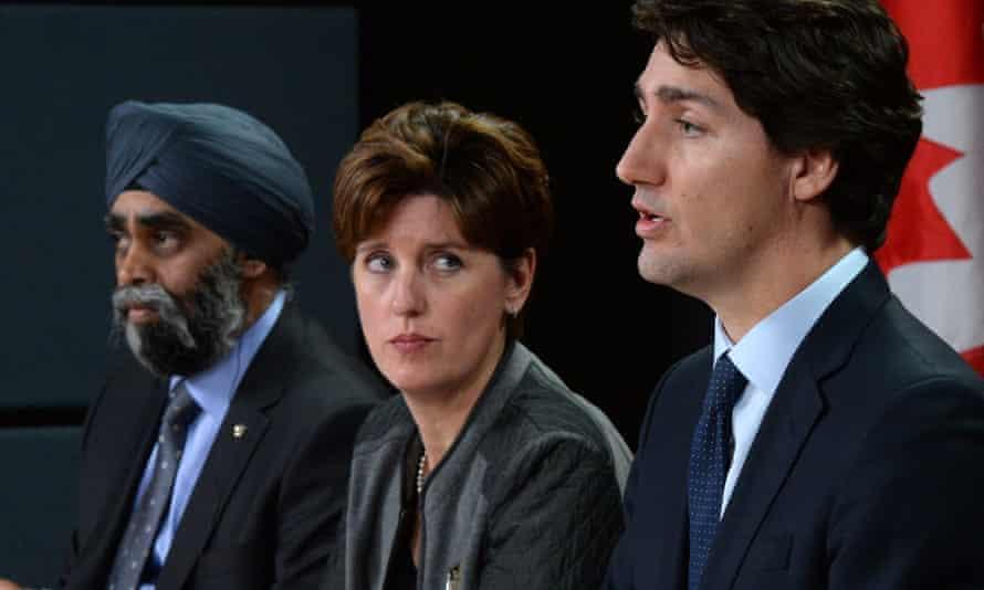 Marie-Claude Bibeau, center, Canada's international development minister, spoke with her Dutch counterpart about the international abortion fund, a spokesman said.