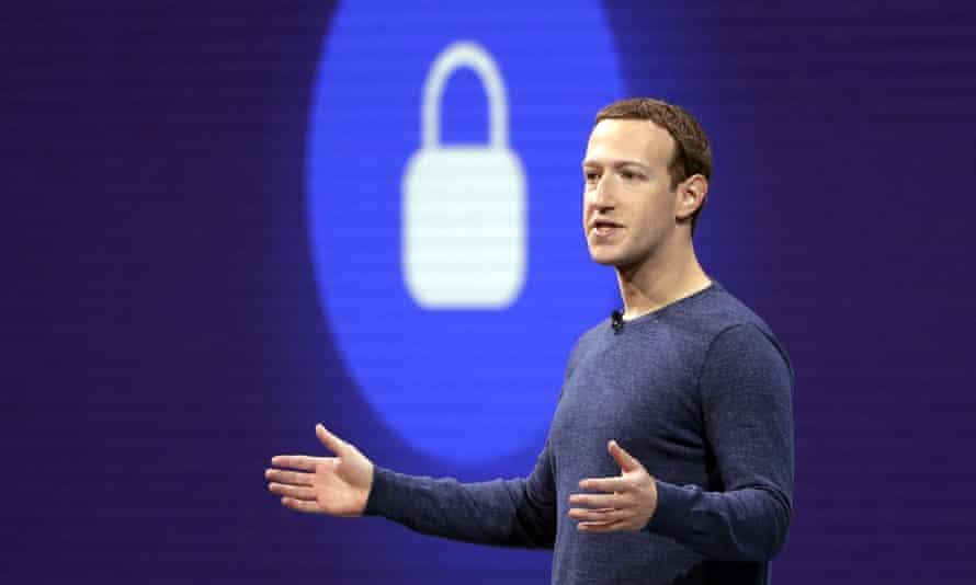 The Facebook CEO Mark Zuckerberg.