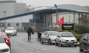 The Wrightbus factory in Galgorm, Ballymena