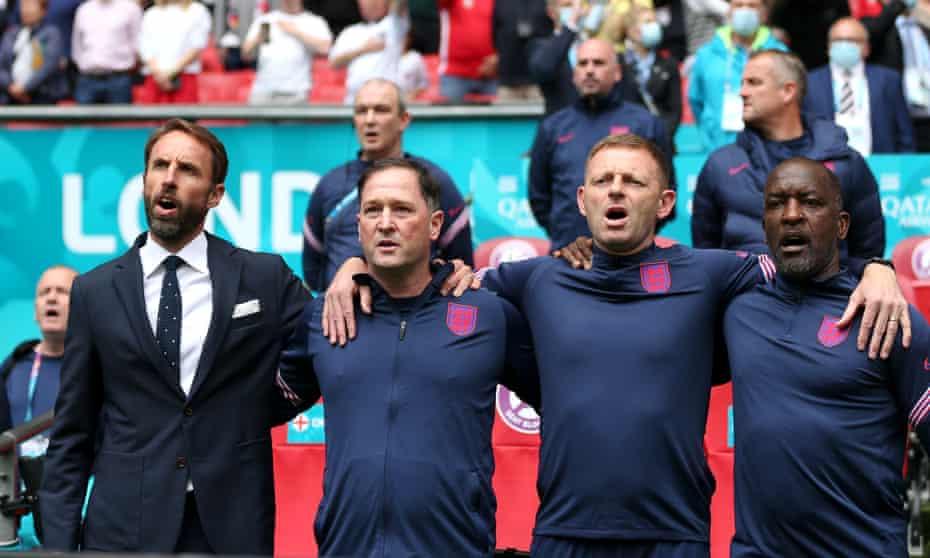 Gareth Southgate, Steve Holland, Graeme Jones and Chris Powell.