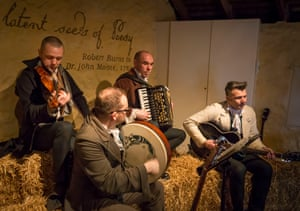 The Borland Ceilidh band play at the cottage