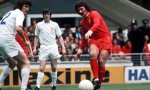 Liverpool player Tommy Smith, right.