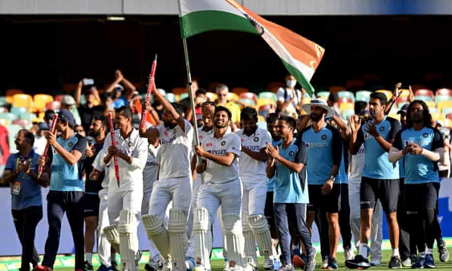 India celebrates its win