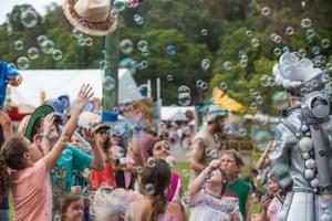 Breaking open the bubbles.