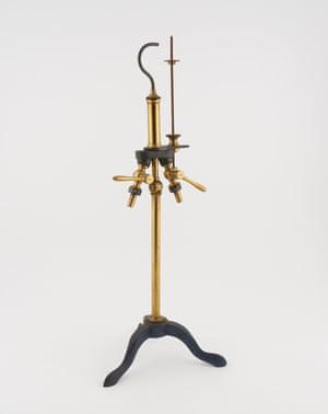 Microscope/fireplace tool stand