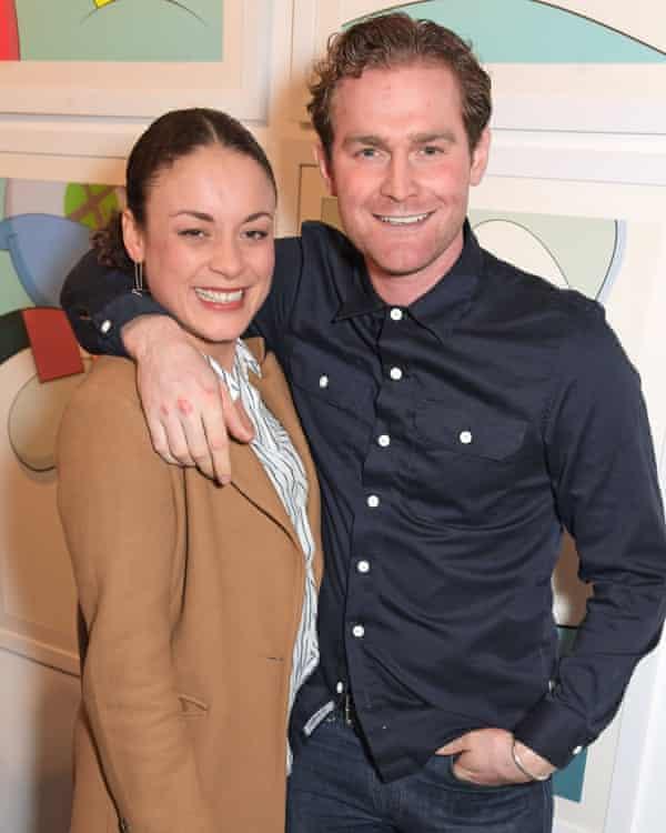 Rochenda Sandall with her partner, Mark Stanley.