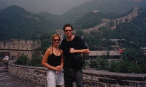 Shannon Leone Fowler and her fiance Sean at the Great Wall of China