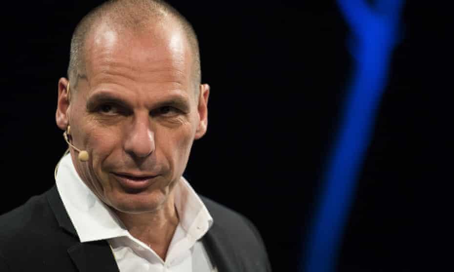 Yanis Varoufakis appears at the Hay festival.