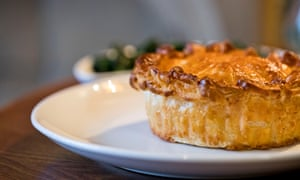 A pie from the Parkers Arms, near Clitheroe, Lancashire.