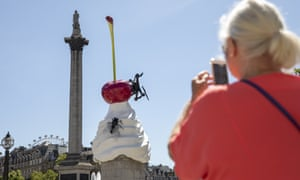Nelson's column with Heather Phillipson's THE END