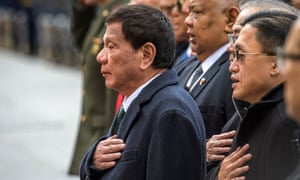 Rodrigo Duterte on official visit to Russia last week.