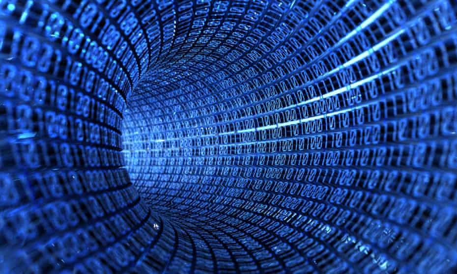 tunnel of binary code