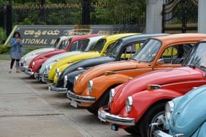 Vintage Beetles cars in Bangalore.