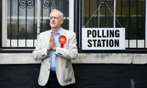 Corbyn at polling station