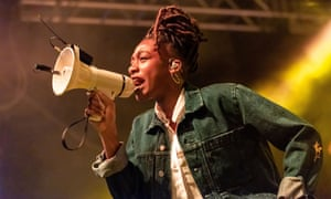 Little Simz on stage in Leeds, 2019.