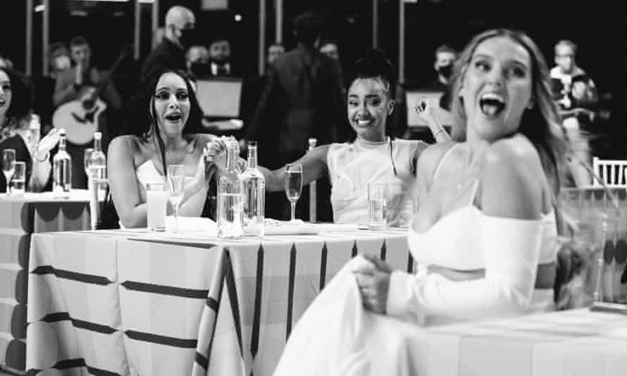 Little Mix at table