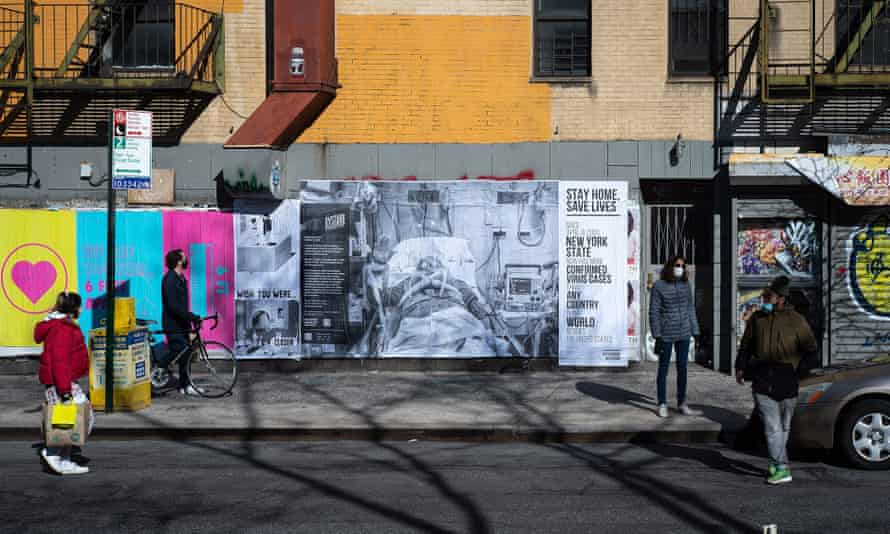 The Dysturb Covid-19 awareness campaign in NYC in April 2020.