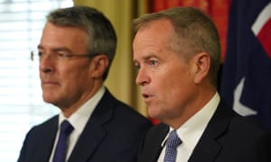 Shadow attorney general Mark Dreyfus and opposition leader Bill Shorten