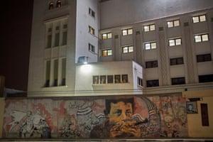A mural by Egyptian artist Ammar Abo Bakr on Mohamed Mahmoud Street, central Cairo,