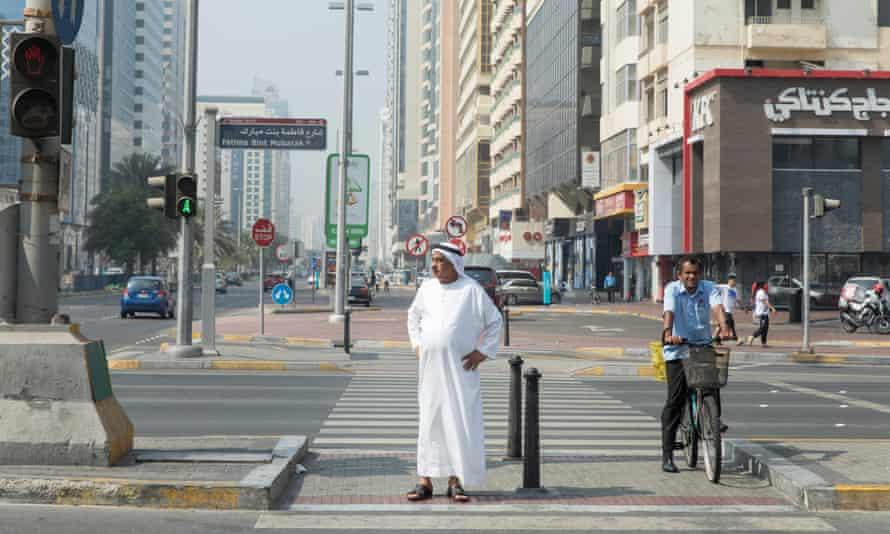 The junction of Hamdan Street and 6th Street