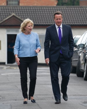 Soubry with then prime minister David Cameron in Nottinghamin 2014.