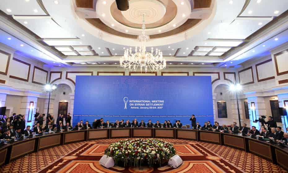 Representatives of the Assad regime and rebel groups assemble for Syria peace talks at Astana's Rixos President hotel