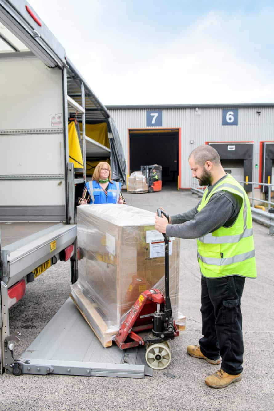 Wincanton apprentice driver Maykal Petrov receives training at the Portbury depot near Bristol.