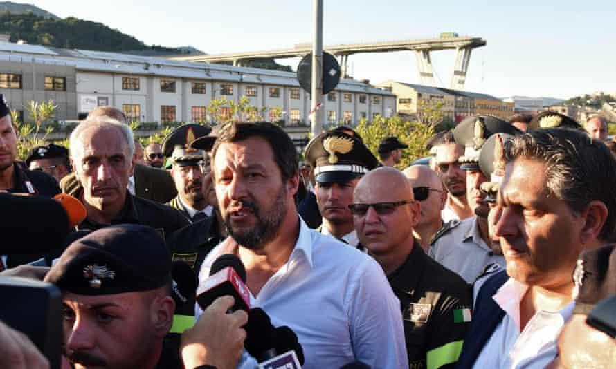 Matteo Salvini in Genoa
