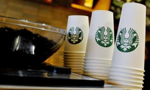 High street coffee cups are made from paper laminated with plastic, to be watertight.