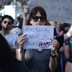 A protester demonstrates against Trump immigration policies. The Trump administration's 'zero tolerance' approach has triggered a flurry of litigation.