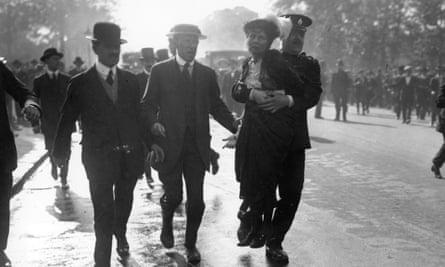 Emmeline Pankhurst is arrested