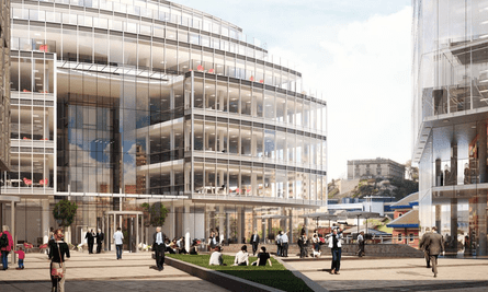 An artist's impression of the proposed development in Unity Square in Nottingham.