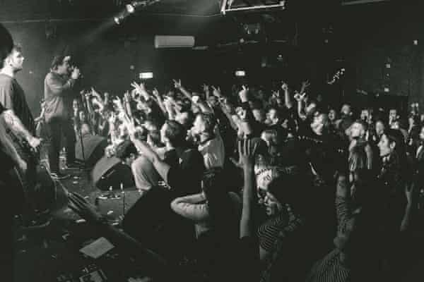 'Everything's covered in cobwebs and dust' ... a crowd at The Joiners, Southampton.
