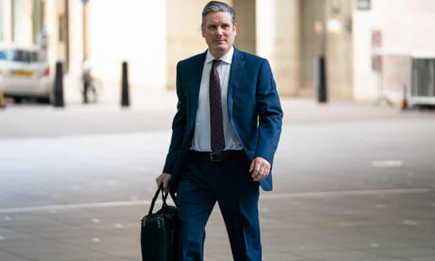 Newly elected Labour leader Sir Keir Starmer arriving at BBC Broadcasting House