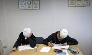Pupils at work at Tauheedul Islamic Boys' High School.