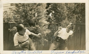 A candid shot of Dorothy Dandridge with her sister Vivian in the 1930s.