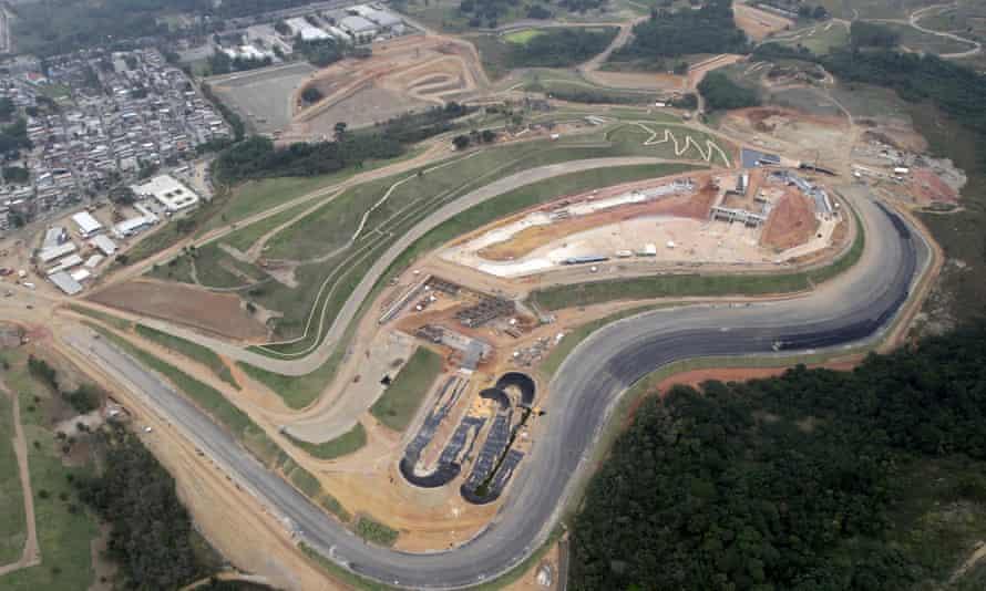 The Deodoro sports complex under construction in Rio de Janeiro.
