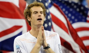 Andy Murray after defeating Novak Djokovic in the 2012 US Open.